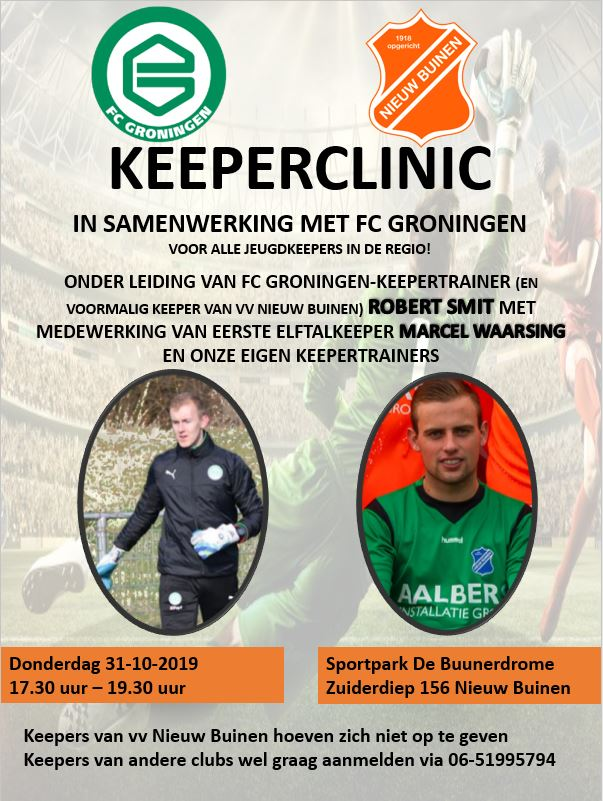 Keeperclinic i.s.m. FC Groningen