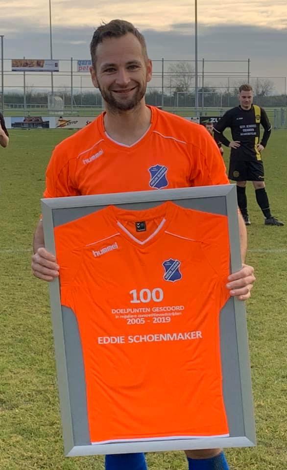 Eddie Schoenmaker maakte al 100 doelpunten!