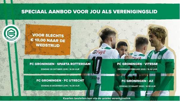 Met korting naar FC Groningen - FC Utrecht