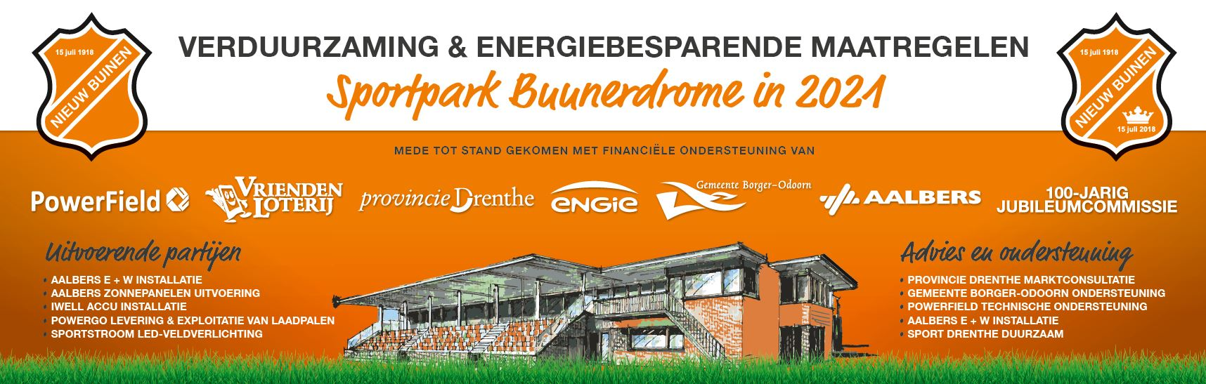 Voortgang project verduurzaming sportpark