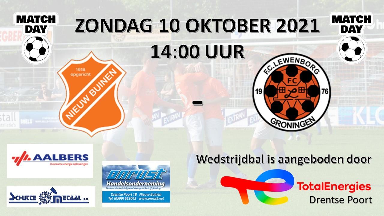 Matchday zondag 10-10-2021